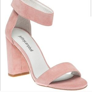 Jeffrey Campbell blush block heel